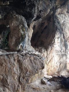 L'interior de la cova